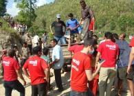 Maruti cement distributes relief for Earthquke